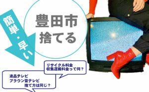 豊田市,テレビ,処分